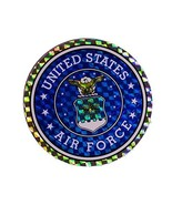ALBATROS USAF Air Force Circle Flag Decal Bumper Sticker for Home and Pa... - $16.05