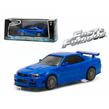 Brians 2002 Nissan Skyline GT-R Blue Fast and Furious Movie (2009) 1/43 ... - $28.71