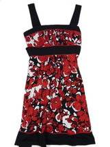 Womens Love Tease 13 M Red & Black Floral Print  Dress - £14.40 GBP