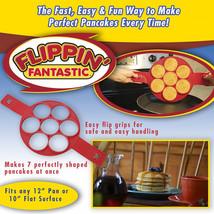 2017 Flippin' Fantastic Nonstick Pancake Maker Egg Ring Maker As Seen On... - $8.39