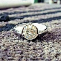 2.40Ct Round Cut VVS1 White Diamond Men's Engagement Ring in 14K White Gold - £223.00 GBP