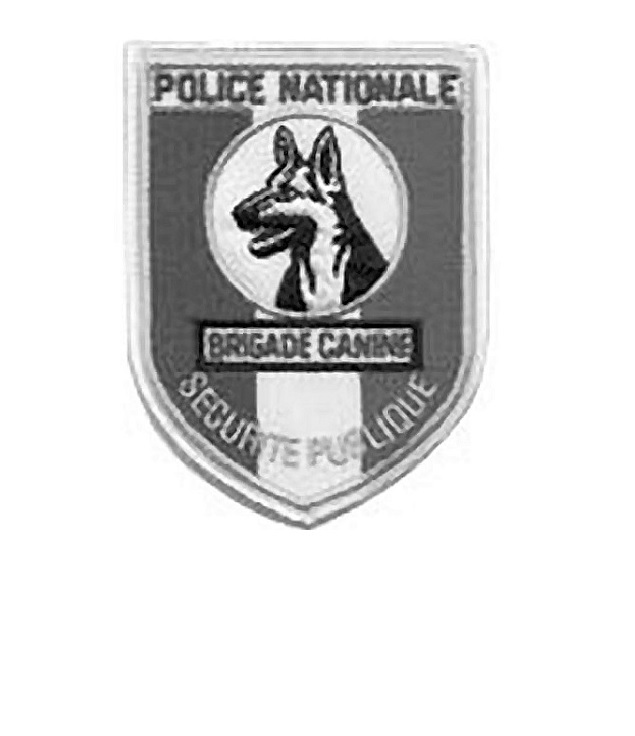 Uritee publique brigade canine french national police k 9 unit tactical grey 4.25 x 3.25 in 9.99