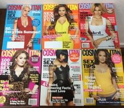 Cosmopolitan Magazine Lot Of 6 Cosmo Pink Adele Nicki Minaj Demi Lovato  - $19.79