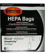 Riccar Radiance X HEPA Vacuum Bags (6pk) *Fits Riccar Vacuum Models RAD ... - $14.35