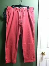 POLO RALPH LAUREN MENS NEW RED 100%COTTON CASUAL PANTS CLASSIC FIT SIZE ... - $56.10