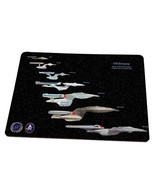 Star Trek Mousd Pad USS Enterprise Generation of Starships'of the Federa... - $8.48