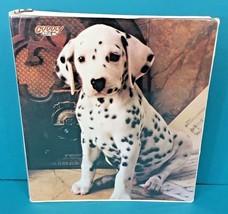 Cuddly Cuties Dalmatian Puppy Dog 3 Ring Binder For Folder Vintage 1990 ... - $31.78 CAD