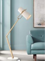 "Arteriors Juniper 72"" Floor Lamp Off-White Shade Antique Brass Mid Century Mod - $1,979.01"