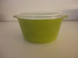Vintage Pyrex Verde Baking Casserole Dish 473 1 Quart  Cinderella handle... - $19.79