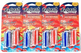 4 Refresh Your Car Layered Summer Lovin & Rainbow Kiss 4 Count Auto Vent... - $19.99