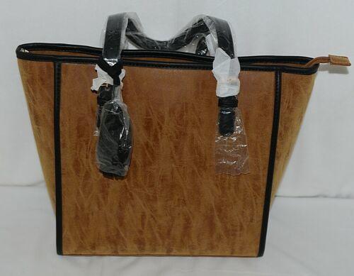 Amanda Blu Brand 85055 Pippa Brown and Black Color Womens Zippered Purse