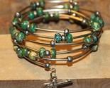 Turquoise semi precious stones memory wire bracelet thumb155 crop