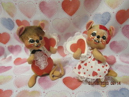 "Annalee Dolls 1993 7"" Valentine Sweetheart Boy & Girl Tush Tag Only - $24.99"