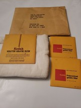 Kodak Wratten & Polycontrast Gelatin Filter Lot with Cloth and Lens Tissue Paper - $17.32