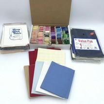 "Lot - Regency Cross Stitch Fabric 12"" x 18"" Floss Thread Circle Frame Ai... - $64.99"
