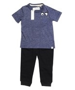 NEW INFANT BOYS SOVEREIGN CODE 2PC EYES BLUE T SHIRT BLACK PANTS JOGGER ... - $14.84