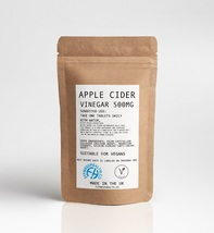 Apple Cider Vinegar 500mg 60 Tablets - UK Made GMP Guaranteed Quality tabs - $7.99