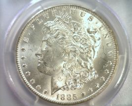 1885-O MORGAN SILVER DOLLAR PCGS MS63 WHITE NICE ORIGINAL COIN FROM BOBS COINS image 3