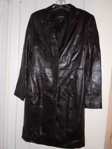 Express Women's / Juniors Size 3-4  Black Leather Coat Button Down Excel... - $14.26