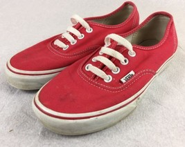 Vans Authentic Lo Pro True Red/True White Classic Shoes MEN Sz 5 Women SZ 7 - $18.78