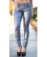 NWT JOES JEANS 25 Glittery sparkly denim blue skinny jeans silvery $225 metallic - $77.59