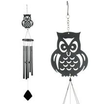 Shadow Owl Metal Wind Chime - $19.98