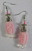 Pink Buddha Dangle Earrings  - $10.00