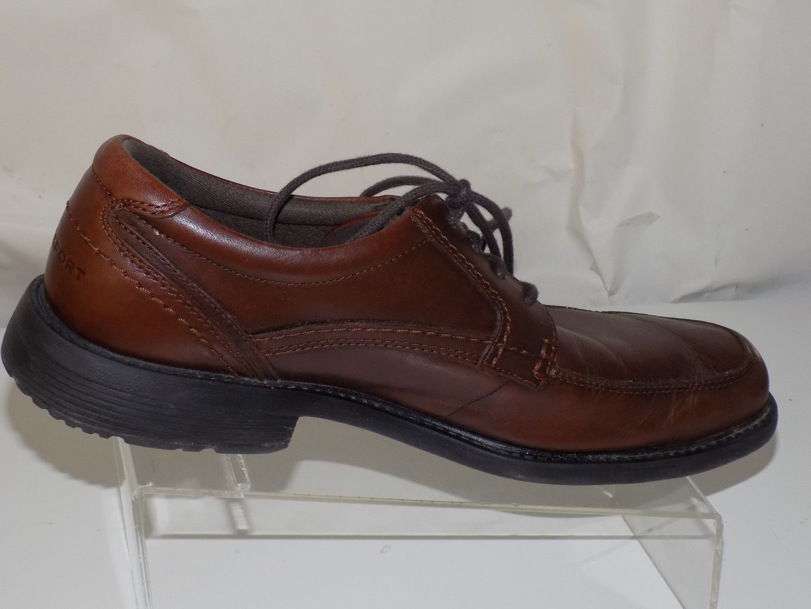 New Fashion Rockport Xcs Womens Casual Lace Up Comfort Brown Leather Upper Shoes Sz 8.5m Flats Clothing, Shoes & Accessories
