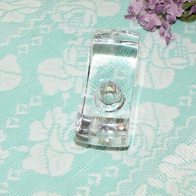 MIKASA CRYSTAL CANDLE HOLDER SIGNATURE ARCHED TAPER SINGLE HEAVY SIGNED image 4