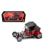 1923 Ford T-Bucket Soft Top Burgundy with Black Top 1/18 Diecast Model Car  - $58.69