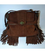 Luxe Rachel Zoe Leather Boho Satchel Brown Tassel Handbag Bag Purse RZ - $98.01