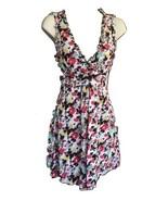 Forever 21 Sleeveless All Cotton Sundress Small V Neck Lined Bottom Buttons - $18.56