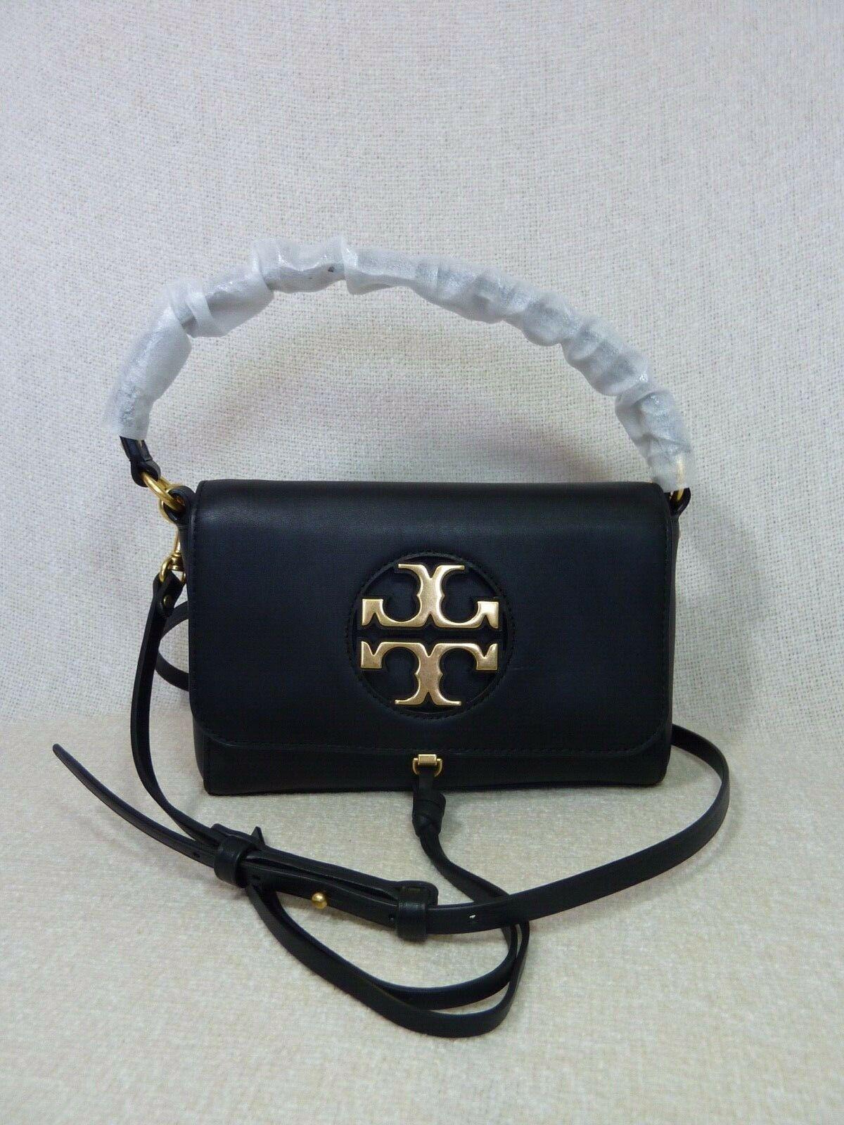 NWT Tory Burch Black Leather Miller Metal Cross-Body Bag/Mini Shoulder Bag $398 image 3