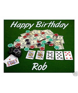 Poker Casino edible cake image personalized frosting sheet party decoration - $7.80