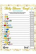 Baby Shower Games - 40 Cards Emoji Pictionary, Fun Guessing Game Girls B... - $16.11