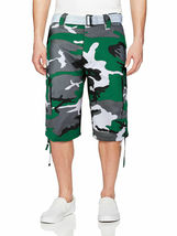 Men's Tactical Military Army Camo Camouflage Slim Fit Cargo Shorts With Belt image 9