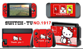 Vinyl Decal Skin Sticker Protector for Nintendo Switch Hello Kitty #1917 - $9.88