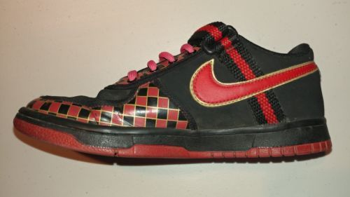 ... Boys Nike Vandal Low Dunk Sz 4.5 Retro Youth Black Red Gold Leather ...