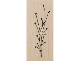 Judith Floral Wood Mounted Rubber Stamp #E-88