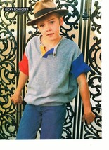 Ricky Schroder teen magazine pinup clipping Silver Spoons with a hat Tiger Beat