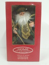 """Home for the Holidays Visions of Santa holding Garland 8"""" Ornament NIB D... - $14.01"""