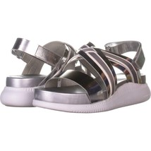 Cole Haan 2 Zerogrand Criss Cross Sandals 703, Argento, 10.5 US - $47.99