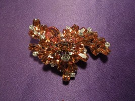 Vintage Kramer Rhinestone Abstract Pin Brooch - $29.70