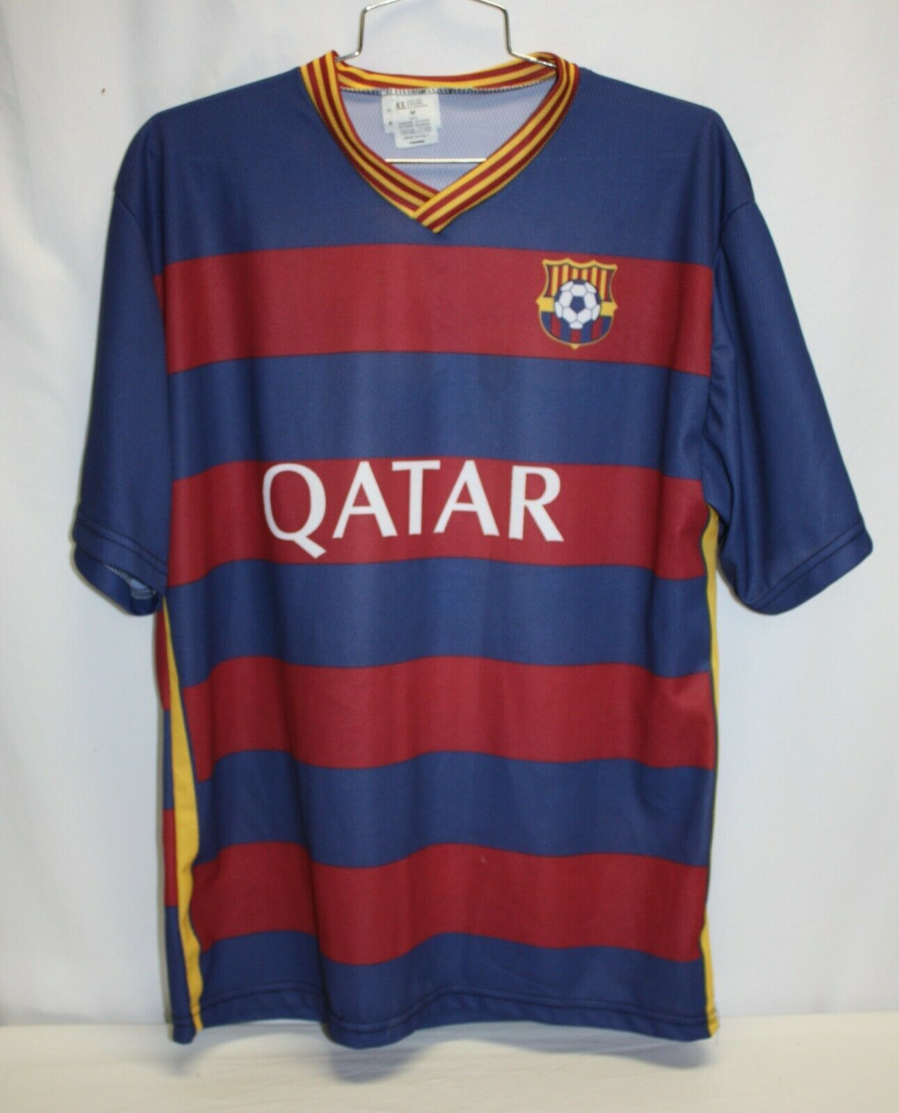Primary image for NIKE Youth FCB Qatar Airways 11 Neymar JR Football Soccer Jersey Size L NEW