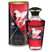 Shunga Aphrodisiac Oil-Blazing Cherry 3.5oz - $15.19