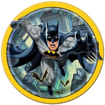 Batman Round Lunch Plates by Unique 8 Per Package Birthday Party Supplies New - $4.11