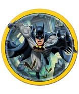 Batman Round Lunch Plates by Unique 8 Per Package Birthday Party Supplie... - $4.11