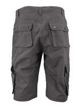 Men's Relaxed Fit Cotton Zip Fly Cargo Shorts Multi Button Flap Pockets image 3