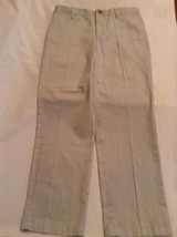 Size 10 Husky Cat & Jack pants khaki flat front uniform boys - $5.29