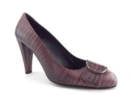 Stuart Weitzman Size 7.5 Purple Lizard Heels Pumps Shoes 7 1/2 - $84.00